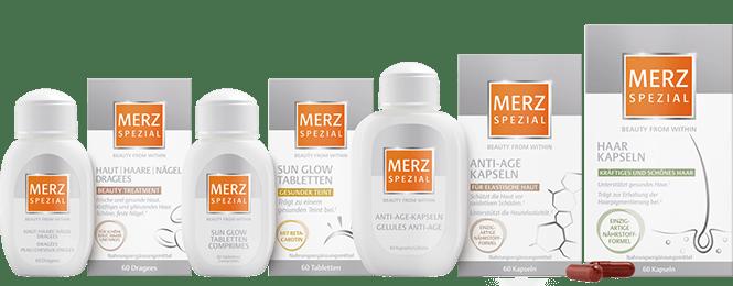 Merz-Spezial Produkte Sortiment
